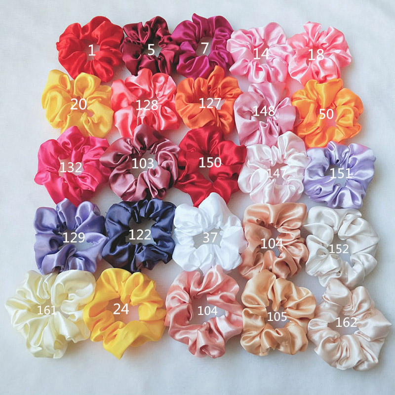 LNRRABC Classical Design Women Hair Accesorios Pelo Female Hair Tie Elastic Scrunchie Ponytail Hair Holder Rope Satin   Headwear
