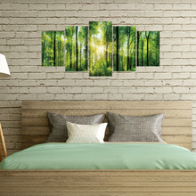 New Wall Stickers Home Decor Living Room Sticker Full of Spring Green Forest 3d Decal  Decoration