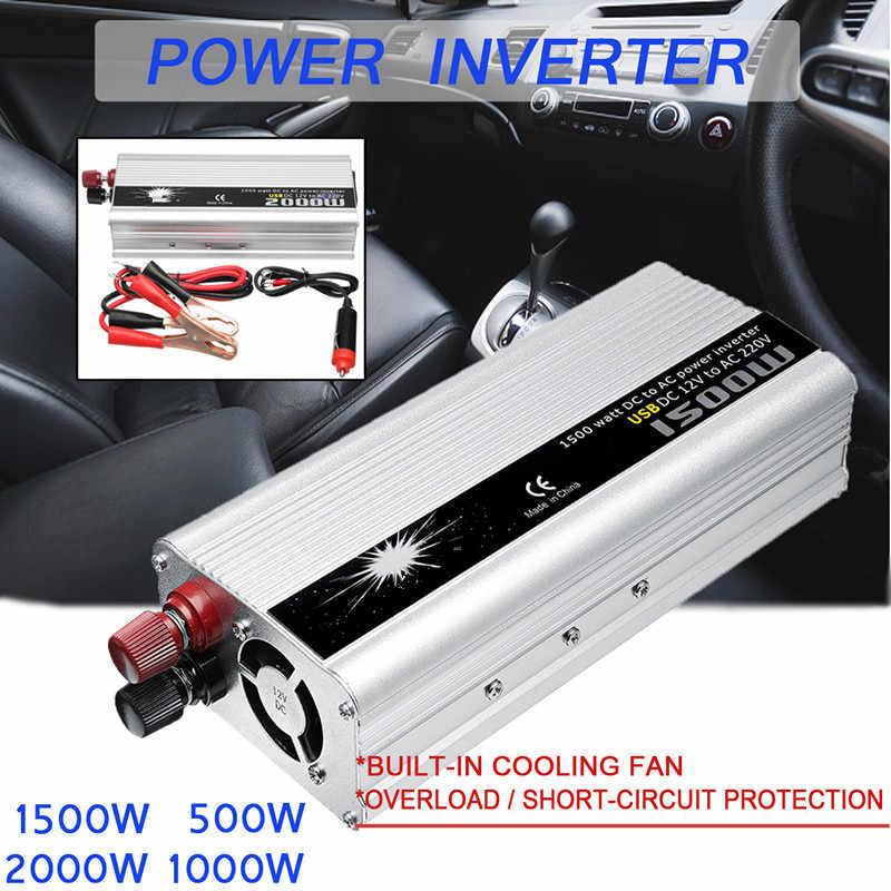 Inversor de coche rectangular de 500-2000W 12V a CA 220V inversor cargador convertidor robusto y duradero vehículo