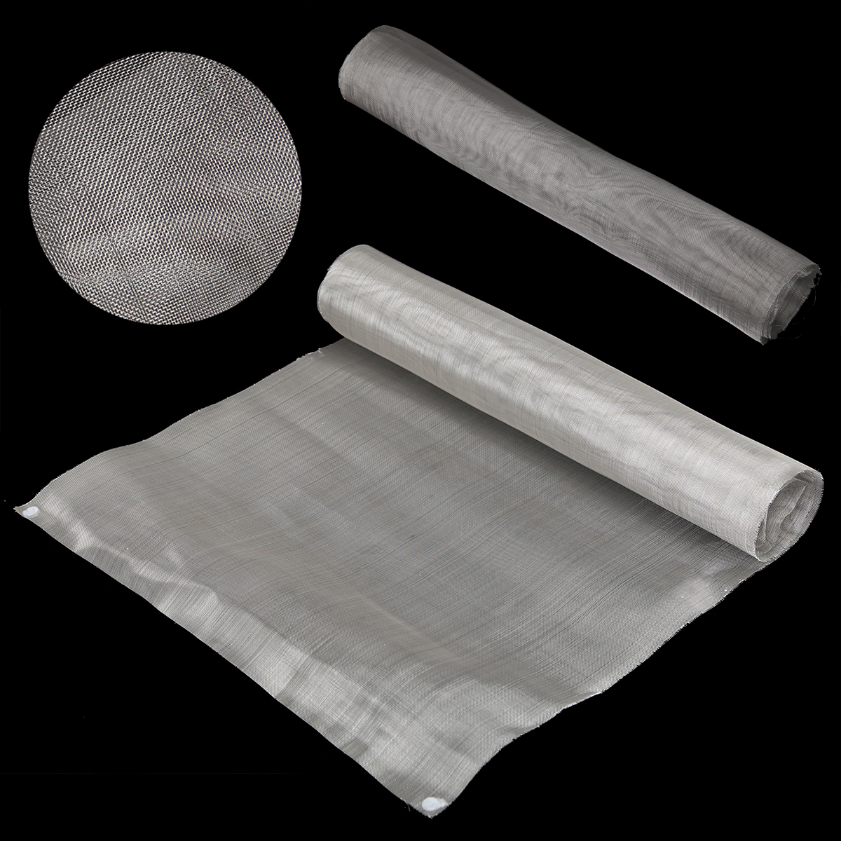 50 Mesh Filtration Mesh 304 Stainless Steel Filtration Woven Wire Cloth Screen 40 x 90cm Used For Oil/Water/Paint