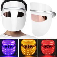 3 צבעים LED אור טיפול פנים אנטי קמטים מיצוק התחדשות עור טיפול Led מסכת טיפול פנים יופי כלי