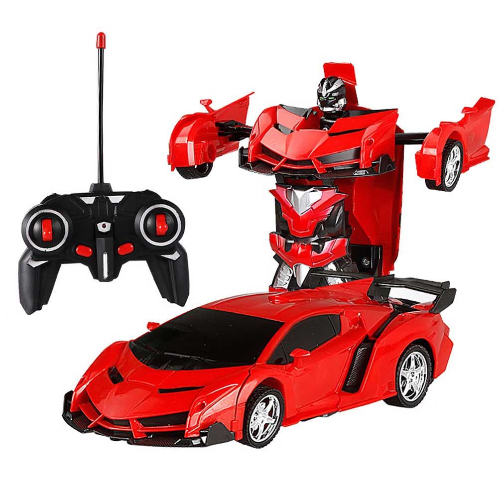 Remote Control One-key Automatic Transform Robot Deformation Car Toys Plastic Model Funny Action Figures For Boys Gifts Kid