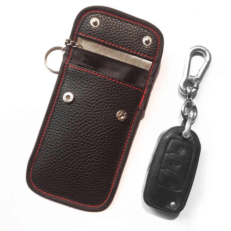 1x замок автомобильный ключ без ключа вход Противоугонная Fob сигнал блокировщик сумка для хранения сумка UK