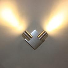 купить 1W 2W 4W LED Wall Sconce Light AC85-265V Modern Aluminum Bedside Lamp for loft Background Wall Lighting Decoration Light Fixture по цене 547.75 рублей