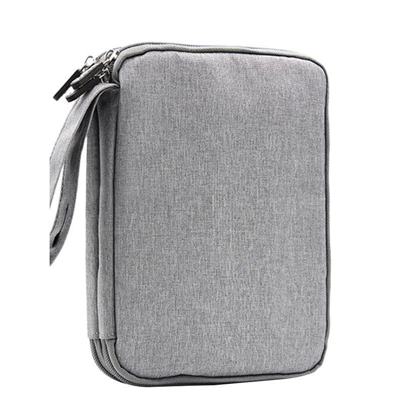 Baona Waterproof Double Layer Cable Storage Bag Electronic Organizer Gadget Travel Bag Usb Earphone Case Portable Digital Orga