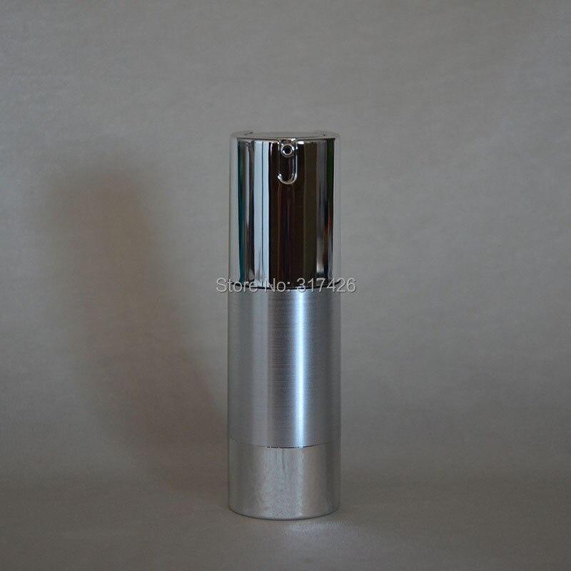 30 ミリリットル UV シルバーゴールドエアレス真空ポンプローションボトル銀ポンプシルバーボトムベース化粧品容器に使用  グループ上の 美容 & 健康 からの 詰め替えボトル の中 1