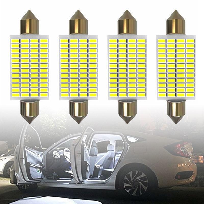 2pcs//set Pro 570 Lumens Super Bright 3014 48smd 578 211-2 212-2 LED Bulb,White