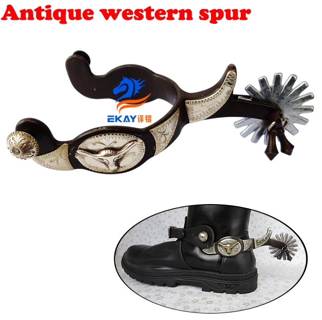 Free Shipping Antique Western Spur,with Rowel & Jingle Bobs.Cowboy Spur(SSP5106)(China)