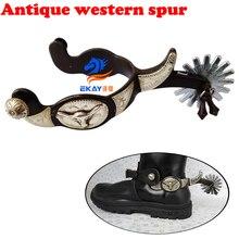Антикварные западные шпоры, с шпателем и jingle bobs. Cowboy spur(SSP5106
