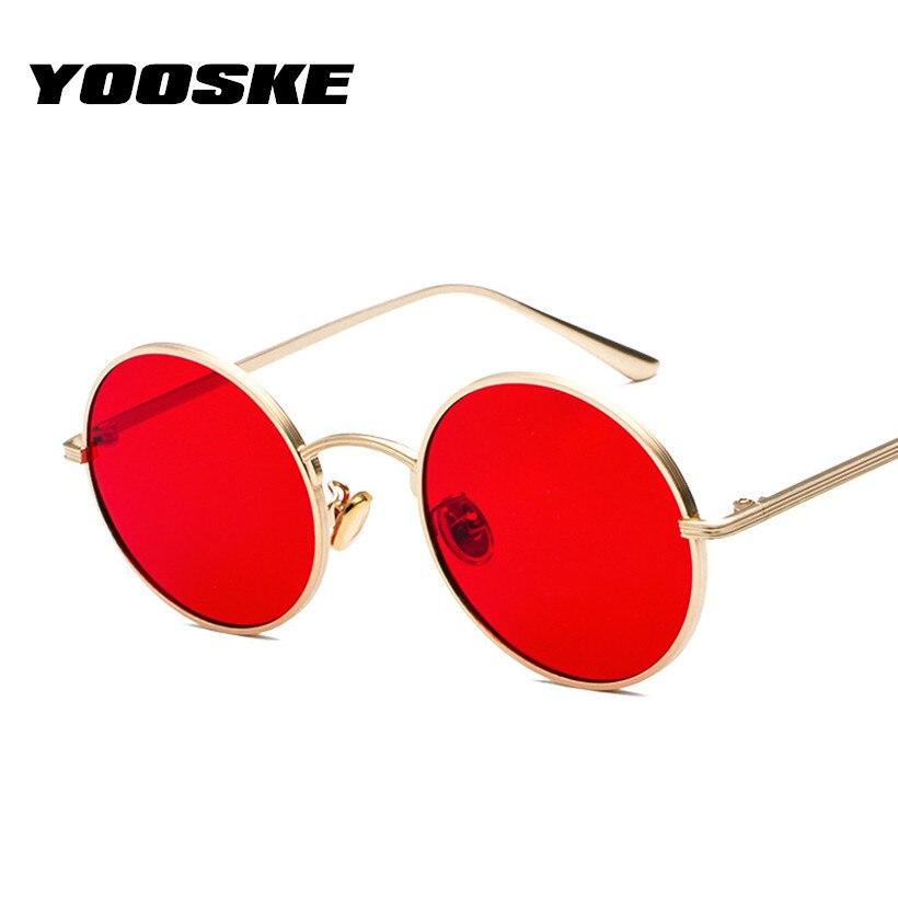 2ed9675065 YOOSKE Pequeno Oval Óculos De Sol para Mulheres Dos Homens De Luxo ...