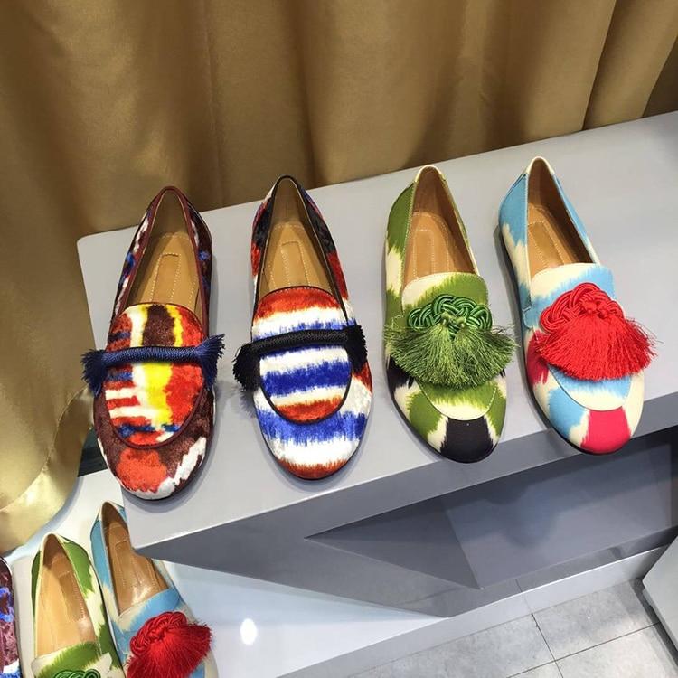 Paresseux Chaussures De Dame Chaude Gland Mocassin Design Appartements Profonde Mujer Velours Beige Rond Peu Bout Fringe Décontracté Mocassins Imprimé xP4XSCP6qw