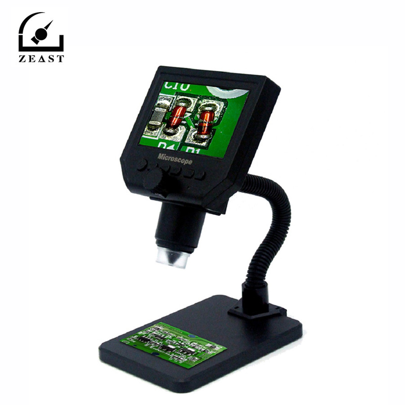 600X Electronic USB Microscope Digital Soldering Video Microscope Camera 4 3 Inch 8 LCD Magnifying Camera