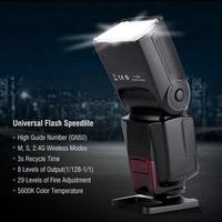 WS-560IV GN50 Slave Flash Speedlite 2.4G Sem Fio indicador de Som para Canon/Nikon/Sony A7/A7 II /A7S DSLR camera series