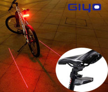 GIYO Battery Pack Bicycle Light Warning USB Rechargeable Mount Lamp Rear Tail Top Quality