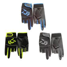 Outdoor Breathable Fishing Gloves Non Slip Protection Against Stab Wounds 3 Fingers High Quality Fishing Sport Waterproof Gloves