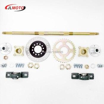 610mm Rear Axle Assy With 428# 37T Sprocket 160mm Brake Disc UCP204 Bearing M8*3 Wheel hub Fit For DIY UTV ATV Buggy Bike Parts