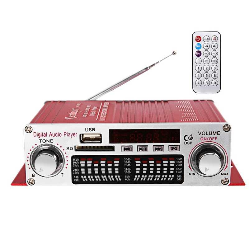 Kentiger Hy-602 صغيرة محمولة Hifi ستيريو مضخم رقمي الطاقة مع Fm وحدة تحكم بالأشعة تحت الحمراء Fm Mp3 Usb تشغيل مع أربعة Dsp