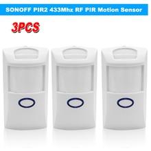 SONOFF Detector de infrarrojos Dual inalámbrico PIR2, Sensor de movimiento PIR RF de 433Mhz, automatización inteligente del hogar, sistema de alarma de seguridad para Alexa