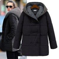 Women's Winter Jacket Europe Style Parka Women Jackets Down Cotton Long Overcoat Slim Hooded Plus Size Coats Outwear