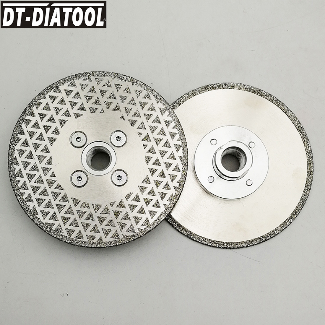 2pieces/set Electroplated  5/8-11 Thread Diamond Cutting Disc Grinding Wheel Saw Blades For Marble Stone