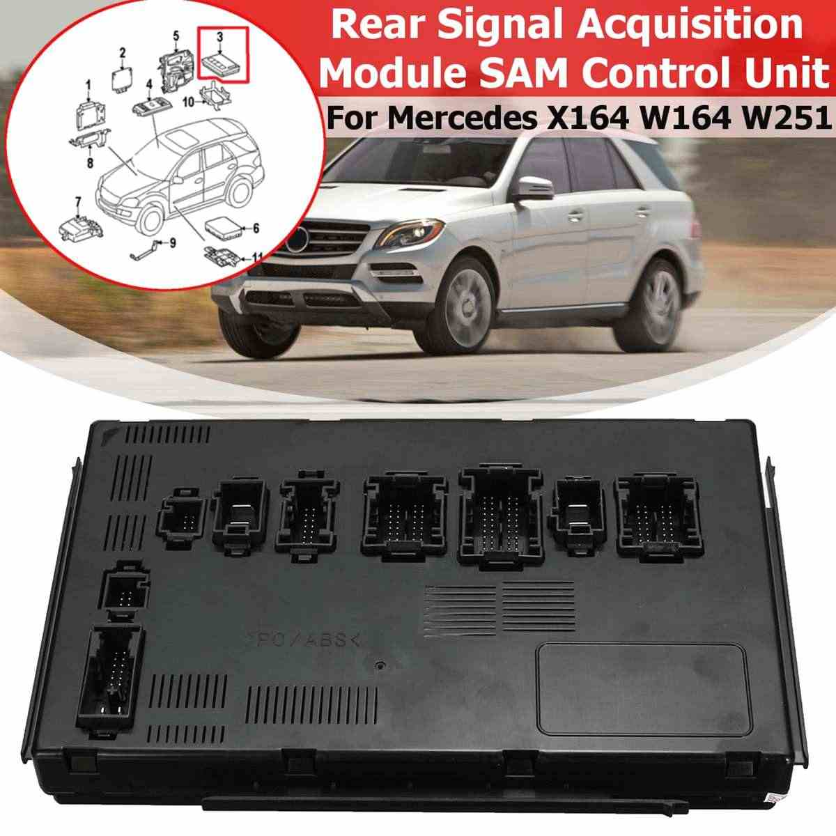 hight resolution of 1pcs for mercedes benz x164 w164 w251 gl320 gl350 rear signal acquisition module sam control