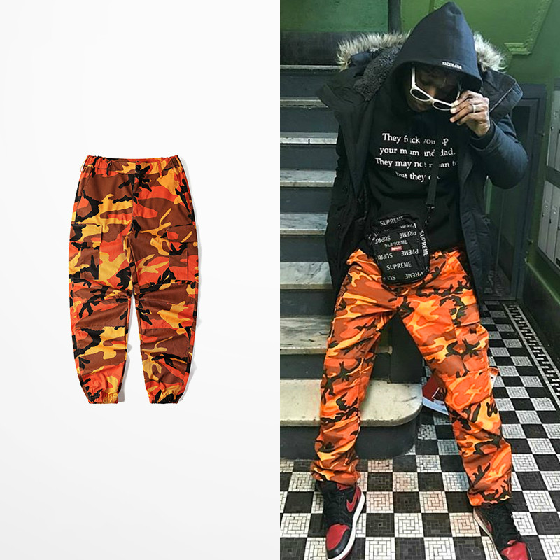 Lay Low Hip Hop Street Wear Dance Pants Men Bib Overall Pants  Ins Network With Bdu Pant High Street Military Camouflage Pants