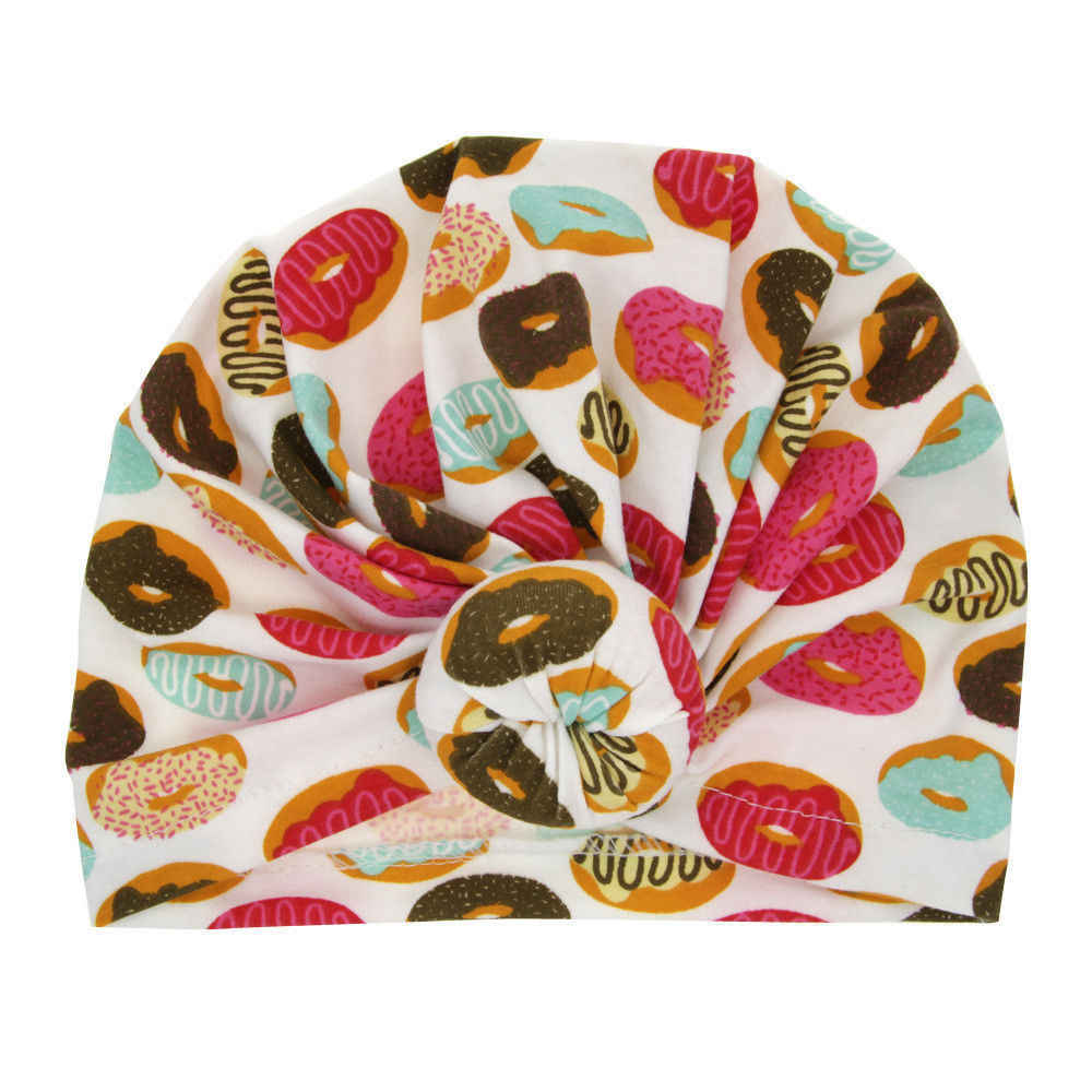 2019 ยี่ห้อใหม่แฟชั่นทารกแรกเกิดเด็กวัยหัดเดินเด็กทารกเด็กทารกเด็ก Turban หมวกผ้าฝ้าย Beanie หมวกฤดูหนาวดอกไม้ Donut Soft หมวกของขวัญ
