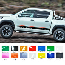 Car exterior 2 PC hilux side stripe graphic Vinyl sticker For Toyota Hilux Revo SR5 M70 M80 15 2016