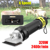 110 240V 320W Professional Electric Animal Horse Camel Dog Shear Clipper Pet Hair Trimmer Hair Shaver Shearing Machine 2400r/min