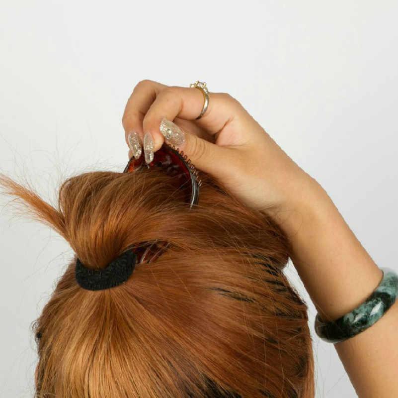 1 Pcs Magic Wanita Alat Styling Rambut Ekor Kuda Meningkatkan Hiasan Kepala Disc Organ Rambut Berbulu Braider Disc