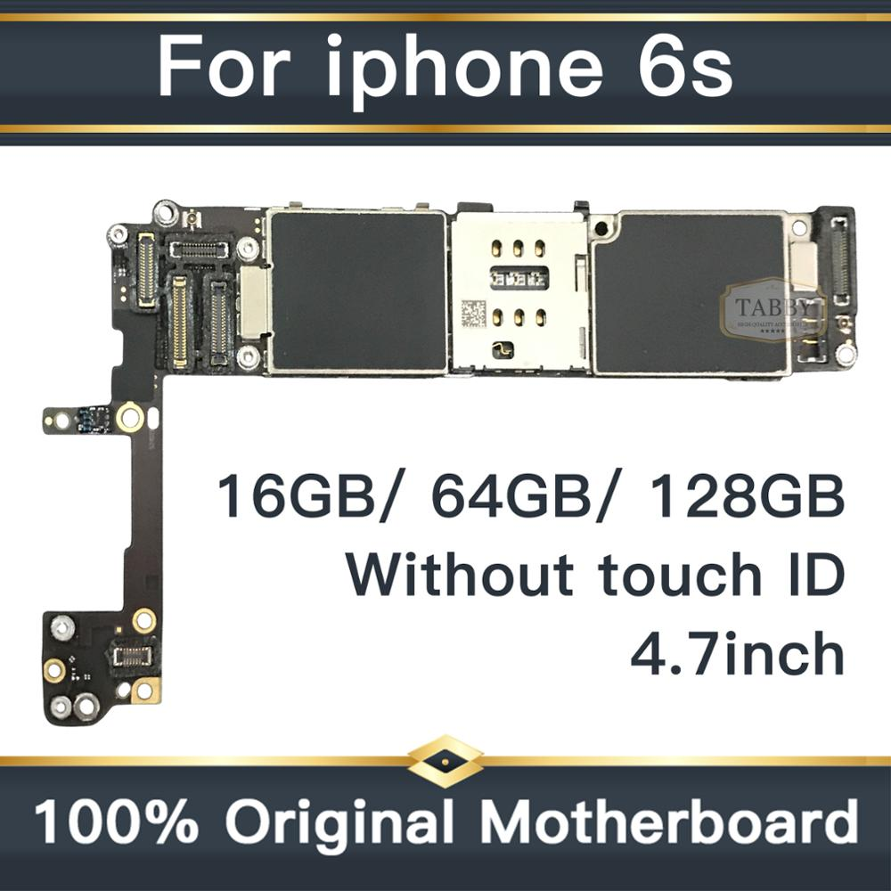 Clean iCloud 100 full unlocked mainboard without touch ID for iphone 6S 6 S 16g 64g