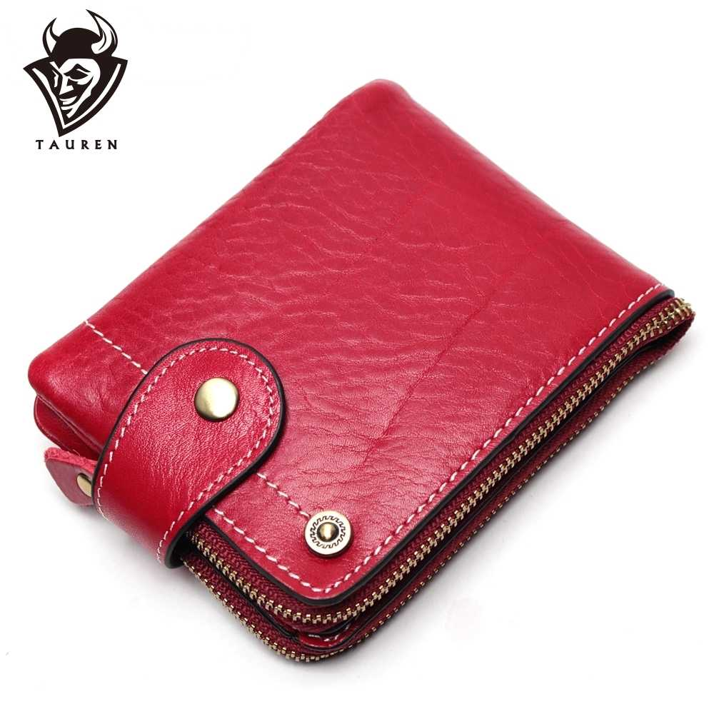 Women Wallet Female Genuine Leather Women Purse Fashion Hasp Small Wallets Photo Holder Clamp For Money Money Bag