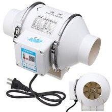 3 pouces Booster en ligne conduit ventilateur Wentilation ventilateur ABS ventilateurs de ventilation tuyau extracteur ventilateur ventilateurs muraux pour salle de bain cuisine 220V 35W