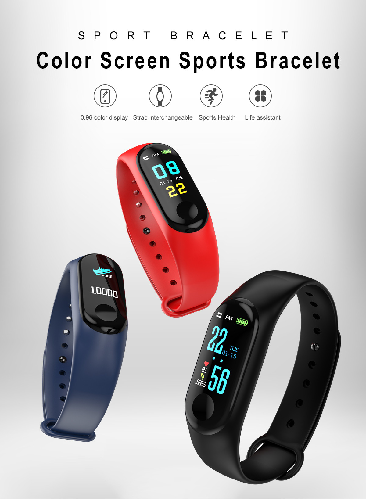 M3 USB style Smart Wristband Bracelet Charge by Usb Waterproof Bluetooth Touch Screen LED Message Heart Rate Time Smart watchM3 USB style Smart Wristband Bracelet Charge by Usb Waterproof Bluetooth Touch Screen LED Message Heart Rate Time Smart watch