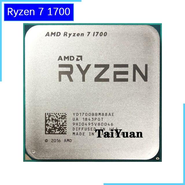AMD Ryzen 7 1700 1700 GHz, 8 cœurs, six fils, 3.0, YD1700BBM88AE, prise de 65W, AM4, R7 processeur dunité centrale