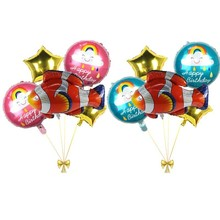 5pcs Lucky Fish Foil Balloons Ocean Party Decoration Ballon Babyshower Boy Girl Gift Birthday Decor Kids Childrens Toy