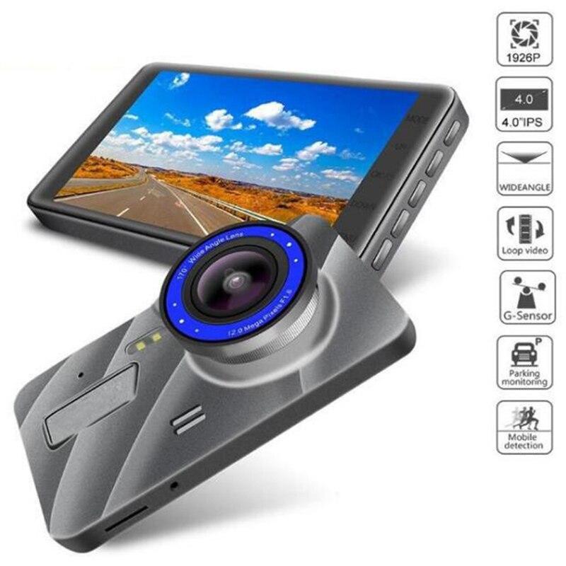 Новый 4 дюймовый Видеорегистраторы для автомобилей Камера Full HD 1080P Двойной