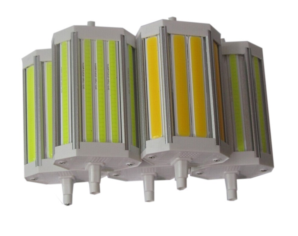 Dimmable COB <font><b>led</b></font> 118mm <font><b>R7S</b></font> light <font><b>30w</b></font> <font><b>R7S</b></font> bulb lamp without fan J118 <font><b>R7S</b></font> RX7S replace 300w halogen lamp 110-240V image
