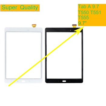 10Pcs/lot For Samsung Galaxy Tab A 9.7 SM-T550 SM-T551 SM-T555 T550 T551 T555 Touch Screen Digitizer Panel Sensor Touchscreen 10pcs lot touchscreen for samsung galaxy grand j1 mini j105 sm j105y j105h touch screen digitizer sensor touch glass lens panel