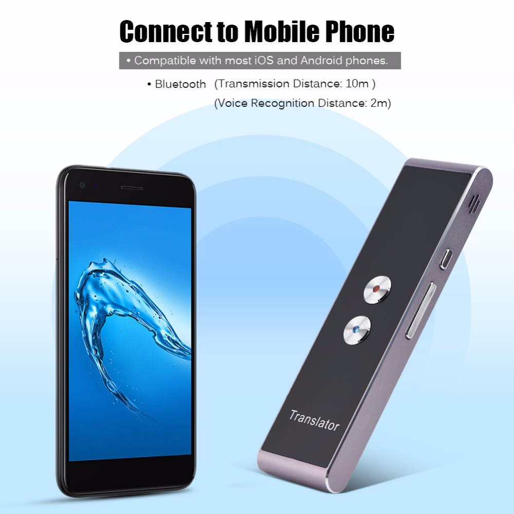Portable Smart Two-Way Real Time Multi-Language Voice Translator for 40  Languages Learning Travel Meeting 2018 Translators