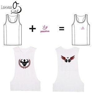 Image 4 - Lanmaocat פיתוח גוף בגדי עבור גברים Loose כושר גופייה מותאם אישית הדפסת פתוח צד ספורט אפוד כושר משלוח חינם
