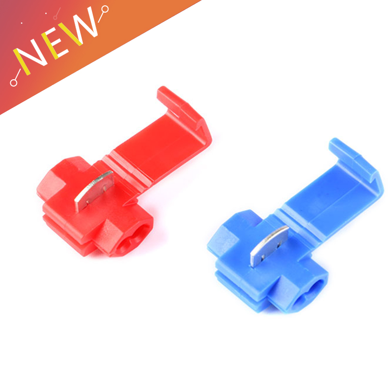 50Pcs Red Electrical Cable Connectors Fast Quick Splice Lock Wire Terminals Crimp 22-16 18-14 AWG Wire Connector