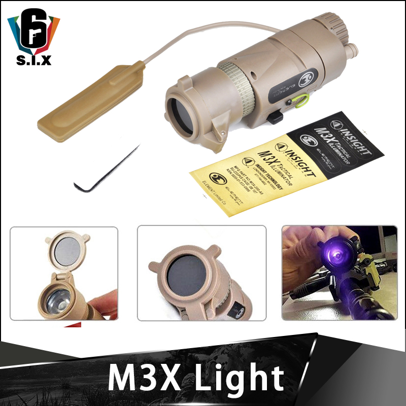 Element Softair Wapens M3X Light Tactical Illiuminator Long With IR Fliter