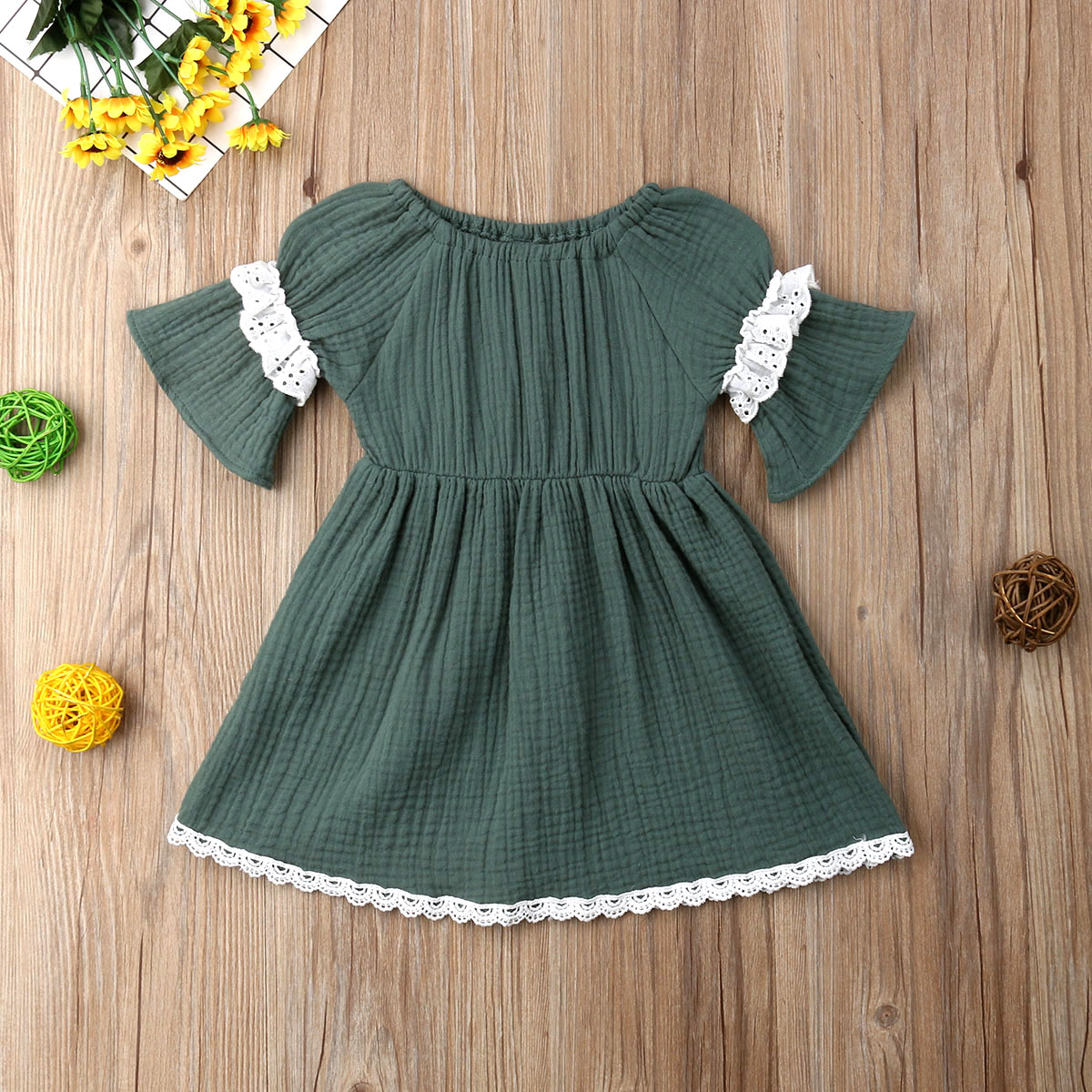 Fourth of July Baby Girls Summer Independence Day Sleeveless Tassel Dress 6M-3Y