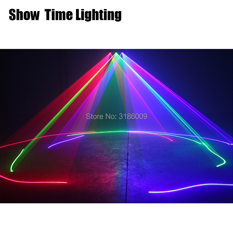 Hot sales 3 Lens Red Green Blue RGB Scanner Laser Light DMX 512 Professional DJ Party Show Club Holiday Home Bar Stage Lighting