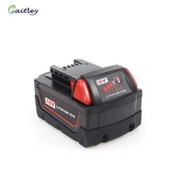 Waitley 18V 5.0Ah Replacement Battery for Milwaukee M18 Cordless Power Tool 48-11-1850 48-11-1852 48-11-1840 48-11-1828 Power Tool Accessories