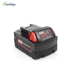 Waitley 18V 5.0Ah Replacement Battery for Milwaukee M18 Cordless Power Tool 48-11-1850 48-11-1852 48-11-1840 48-11-1828