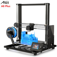 Anet A8 Plus Upgraded version Aluminum Frame DIY 3D Printer 300 x 300 x 350mm High Precision Metal Desktop Impresora with Screen
