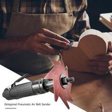 Восьмиугольная пневматическая для пневматической ленточной шлифмашины Полировальный Инструмент для дерева гравирование шлифование Инструменты Полировка Шлифовка литье алюминиевые инструменты