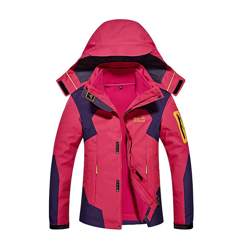 2 pièces veste d'hiver femmes mode extérieure Ski à capuche veste imperméable épaissie maintien au chaud vestes à capuche femmes 2019 nouveau Sportswear